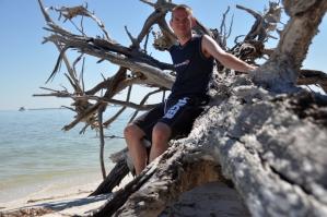 Dave op Cayo Costa eiland