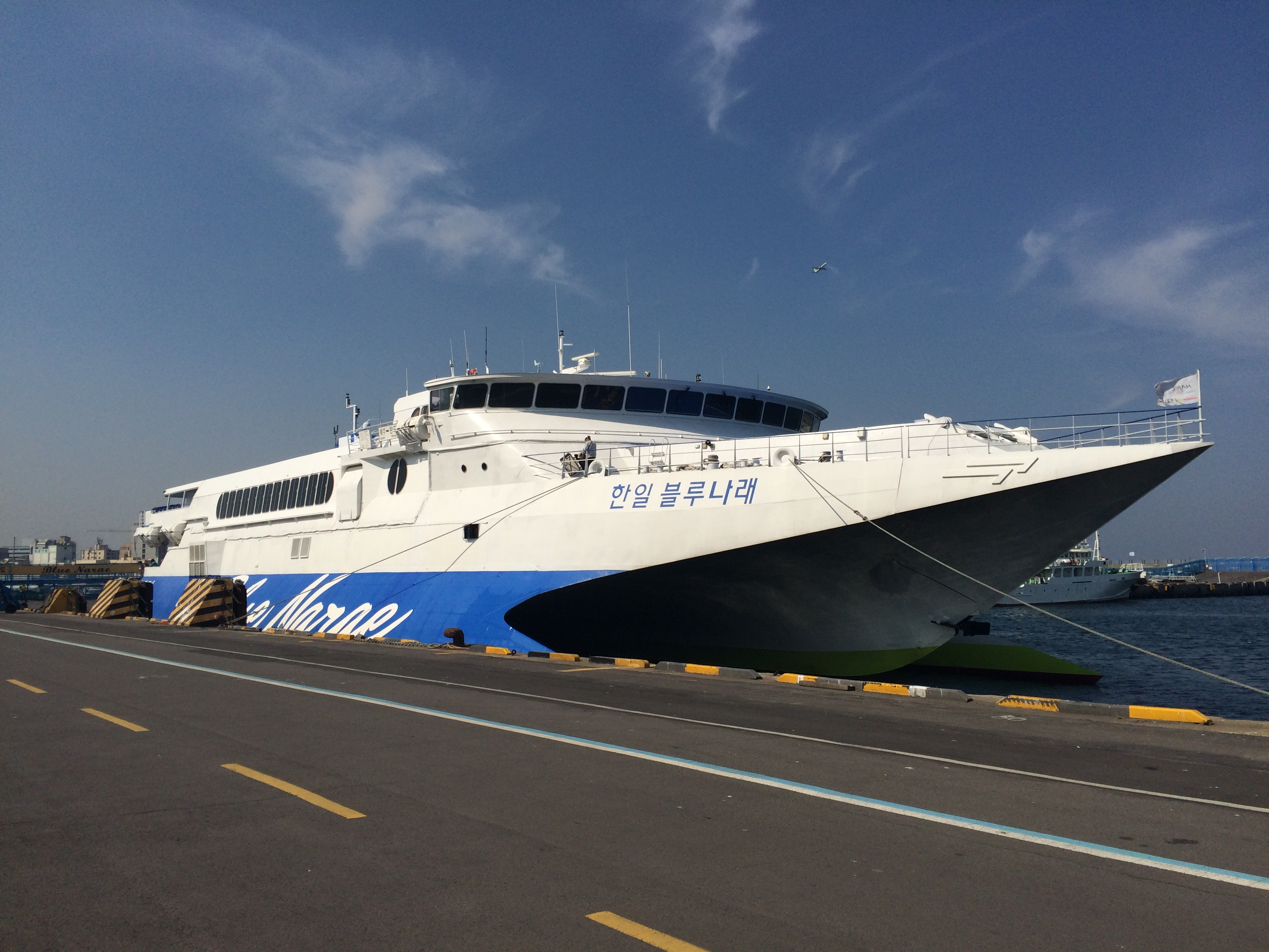 De snelle ferry naar Jeju