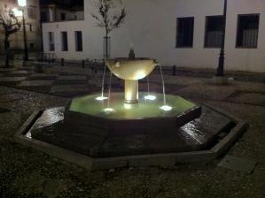 Een pleintje in Granada