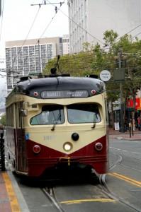 Historische tram Philadelphia Suburban Transportation Co.