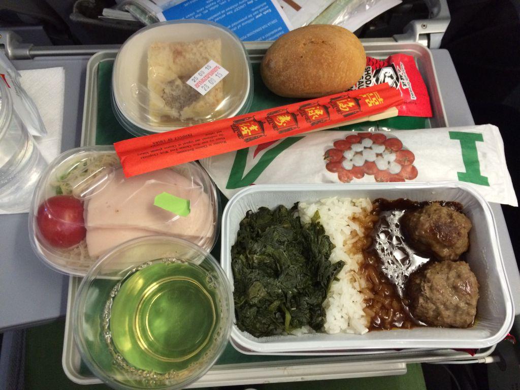 Koreaanse vliegtuigmaaltijd