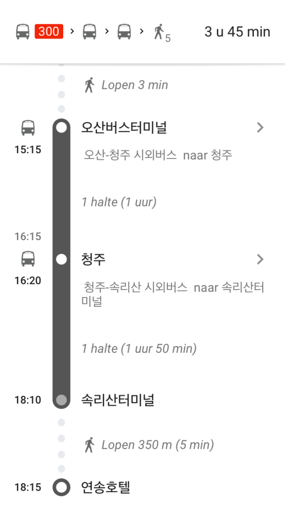 afstand vs en noord korea