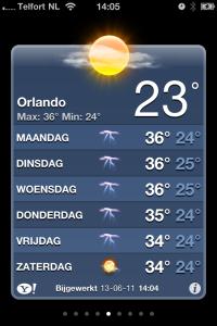 Orlando weerbericht