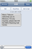 SMS uit Marokko