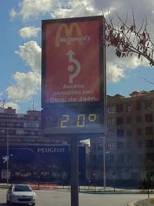 Temperatuur in Granada