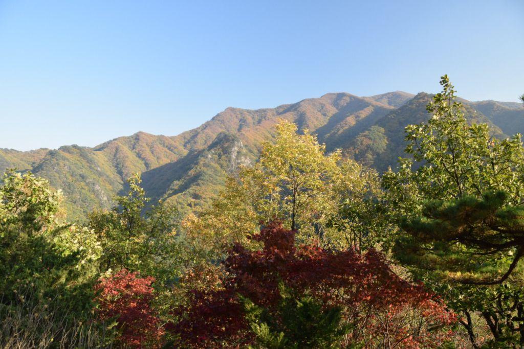 Uitzicht vanaf de top van Mt. Sobaek