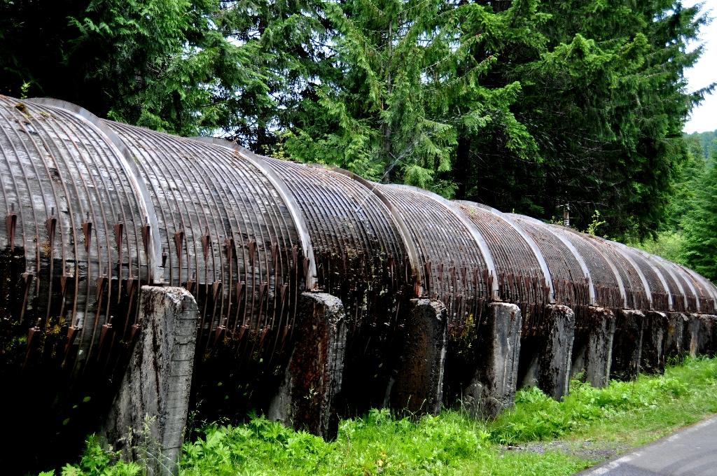 Waterkrachtcentrale bij Toketee Falls is lek...